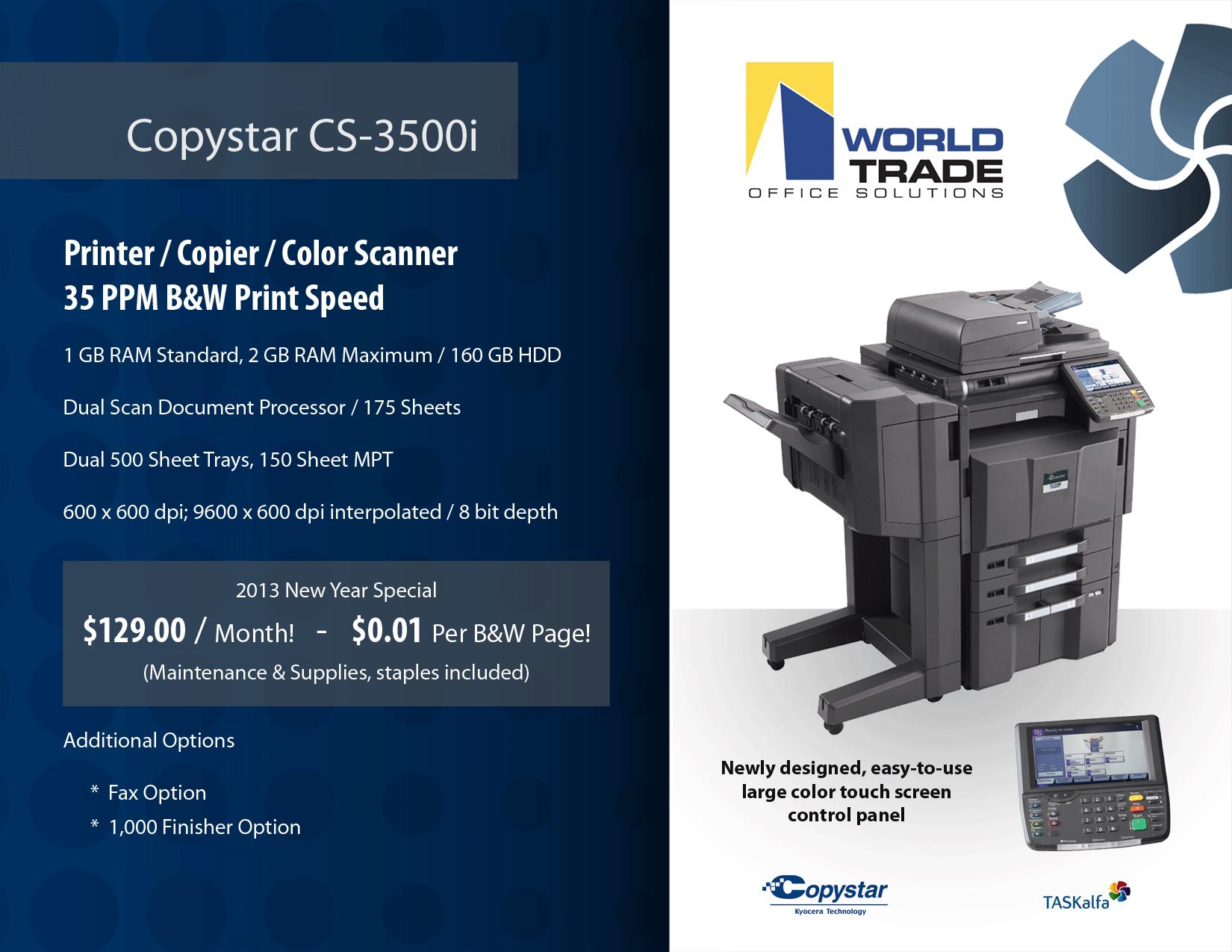 New Copystar CS-3050ci | Color Copiers for Lease miami | | Copiers